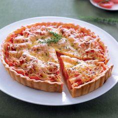 Tarte moutardée à la tomate