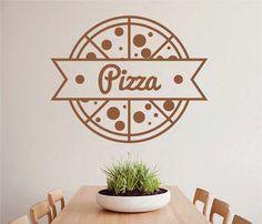 ik2495 Wall Decal Sticker Pizza Italian Restaurant Pizzeria stained glass