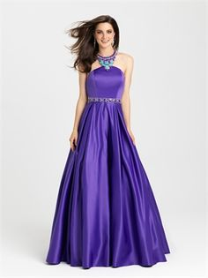 Wedding Dresses Ball Gown, Exquisite Satin Halter Neckline A-Line Prom Dresses With Beadings DressilyMe Prom Dresses 2016, Blue Evening Dresses, A Line Prom Dresses, Sexy Wedding Dresses, Cheap Wedding Dress, Designer Wedding Dresses, Prom 2016, Dress Prom, Evening Gowns