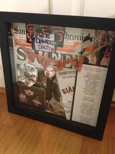 2012 World Series Champs. San Francisco Giants memorabilia. Shadow box.