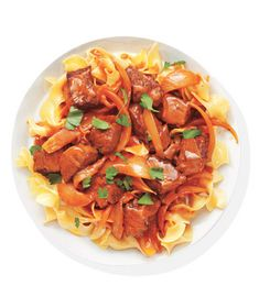 Beef Paprikash With Egg Noodles Recipe from realsimple.com #MyPlate #protein