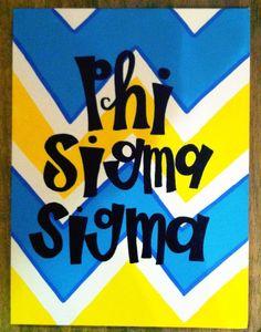 Phi Sigma Sigma canvas- love this design