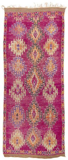 Stunning mid-century Moroccan rug.