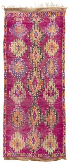 gorgeous colors in this mid-century Moroccan rug / nazmiyal