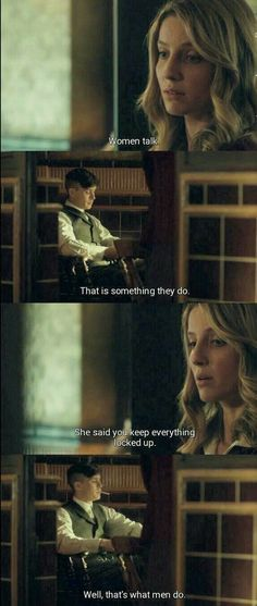 Episode 3 - Grace trying to get to the bottom of why Tommy and Freddie are fighting and arguing over the possible rise of communism because of a lack . Peaky Blinders Grace, Peaky Blinders Poster, Peaky Blinders Wallpaper, Peaky Blinders Season, Peaky Blinders Series, Peaky Blinders Quotes, Cillian Murphy Peaky Blinders, Tv Show Quotes, Film Quotes