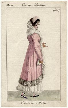 "An 11 Costume Parisien plate 455  Toilette du Matin - French ""An 11"" fashion plates (Sept 1802 to Sept 1803)"