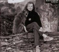 Robert Plant and man's best friend:)