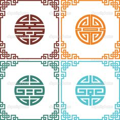 Set-of-Vector-Oriental-Chinese-Knots-with-Frames