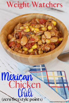 Weight Watchers Slow Cooker Mexican Chicken Chili - Life is Sweeter By Design