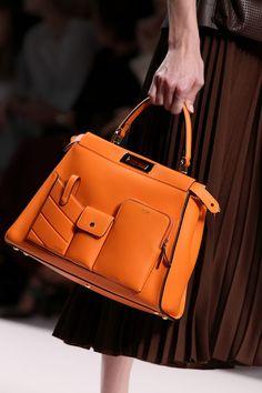 f70e6e81b4d8 Fendi Women s Spring Summer 2019 Fashion Show Orange Bag
