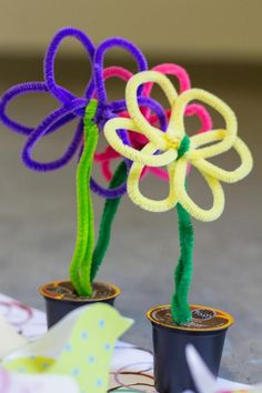 K-Cup® pack flower pots. Re-purpose used K-cups with this fun craft for the…