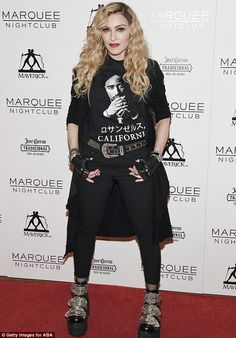 On tour: Madonna is shown on Sunday hosting an after party for her Rebel Heart Tour in Las...