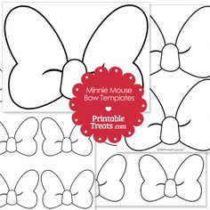 Printable Minnie Mouse Bow Template from PrintableTreats.com