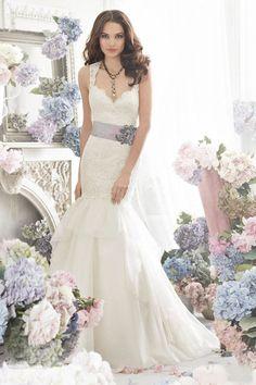$814 Shoulders the fishtail wedding dress/ fishtail dress -ZZKKO