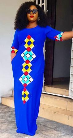 My latest gown African Fashion Ankara, Latest African Fashion Dresses, African Print Fashion, Africa Fashion, African Style, Long African Dresses, African Print Dresses, African Inspired Clothing, Beautiful African Women