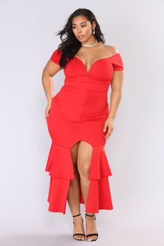 15aafd0513e End Of Desire Maxi Dress - Red. Fashion Nova CurveCurvy ...