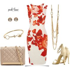 Floral Passion by parklanejewelry on Polyvore featuring Karen Millen, ALDO, floral, springfashion and parklanejewelry