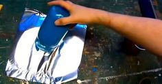 He Paints An Old Jar And Places It On Tin Foil. Just Watch What Happens When He Picks It Up!