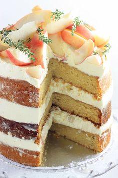 White Nectarine Thyme & Limoncello Cake   From The Larder