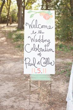 handmade sign #wedding