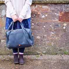 Winter&Jonah and the PacaPod Firenze Changing Bag. A luxury leather diaper bag with a 3-in-1 organisation system.