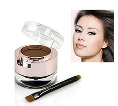 Eyebrow Powder Eyebrows+Eyeliner Gel Long-Wear Gel Eyeliner Black With Brush (Light Brown Eyebrow+Black Eyeliner). Multifunctional eyebrow and eyeliner powder ,2- in-1 ,lightweight and portable ,Suit for different occasions,Perfect for party makeup/casual makeup/wedding makeup, etc. Waterproof,smudge proof and last for all day long .Ultral Smooth,easy to color, make your eyes look larger and nicer. Eyeliner: warm fashion black + perfect hold technology, allowing you to enjoy without sweat...