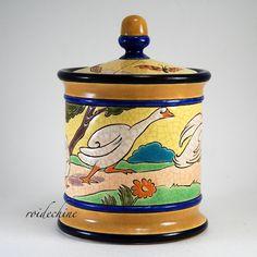 RARE RARE ! à débattre ! FAITES VOTRE OFFRE ! LONGWY 1925 Pot à tabac ART DECO !