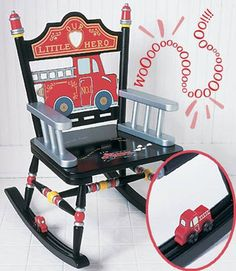 Levels of Discovery Fire Engine Boys Rocking Chair