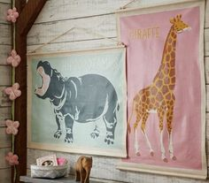 Cute wall hangings for a nursery