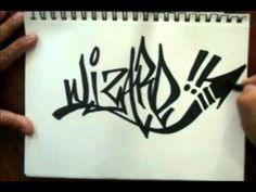 How to tag a graffiti name (WIZARD) - YouTube