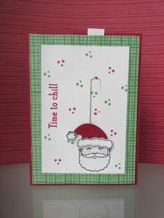 Stampin' Sacha - Stampin' Up! - Autumn-Winter Catalogue 2016 - Jolly Friends - Labeler Alphabet - Snow Friends - Jolly Hat Builder Punch - Classic Label Punch - This Christmas DSP - Garden Green - Cherry Cobbler - Slider Card - Christmas - #stampin_sacha - #stampinup