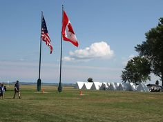 Military reinactors camp at Perry's Monument, PUT-IN-BAY, OHIO* by gobucks2, via Flickr
