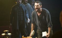 """The League of British Artists: Richard Armitage in THE CRUCIBLE """"(Actually, in this play, one had to be concerned about the sighing women in the audience with RA in the lead.  One very funny bit - when he removes his shirt to wash up - there was a drastic intake of breath causing a severe loss of breathable oxygen in the room!)"""