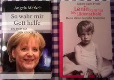 """Eine Biographie über unsere """"Bundes-Angie"""" und ein sehr lesenswertes Buch von Precht über seine wilde Kindheit und Jugend einer waschechten DKP-Familie"""