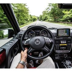 Cruising down route 9w in the G63 AMG. Just left a BBQ, now on my way into the city.   #MBPhotoPass  @Marta Davis Barth