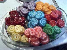 Jello Pinwheels from Food.com:   								This is a fun and different way to make jello for the kids.