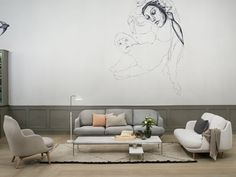 Fritz Hansen Lune Two Seater Sofa by Jaime Hayon - Chaplins