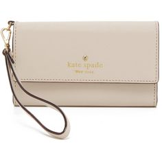 Kate Spade New York Cedar Street iPhone 6 / 6s Wristlet ($120) ❤ liked on Polyvore featuring bags and crisp linen