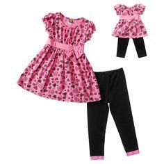 Dollie   Me Heart Print Top   Leggings Set - Girls 4 - c2c6d47d9