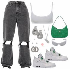 Cute Lazy Outfits, Swag Outfits For Girls, Cute Swag Outfits, Teen Fashion Outfits, Edgy Outfits, Retro Outfits, Mode Outfits, Look Fashion, Girl Outfits