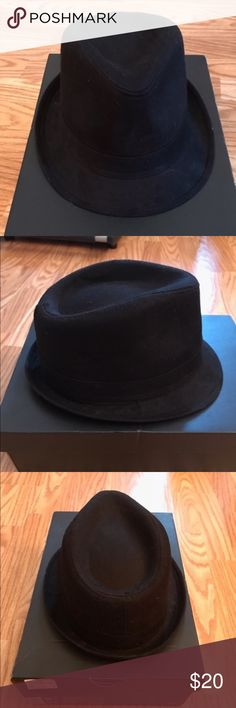 Men's designer fedora, hoodlum style 😈 Black men's designer fedora, fitted osfa, nice to wear as casual or dressed up , fits like a pork pie hoodlum Other