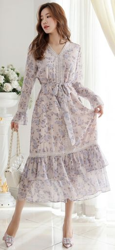 f4d2c101cd0a 8 Best Floral chiffon dress images in 2019
