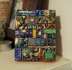 Mixed media mosaic by DSDesigns (Debra Sutton), via Flickr