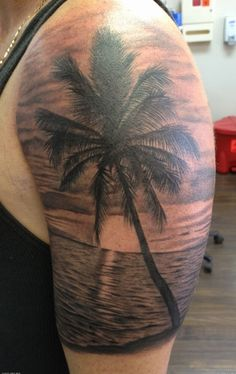 Image result for sunset beach tattoo