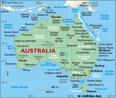 Australia Map / Map of Australia - Facts, Geography, History of Australia Australia Facts, Australia Map, Western Australia, Iphone Australia, Australia Wallpaper, Australia Tattoo, Australia Pictures, Vogue Australia, Surf