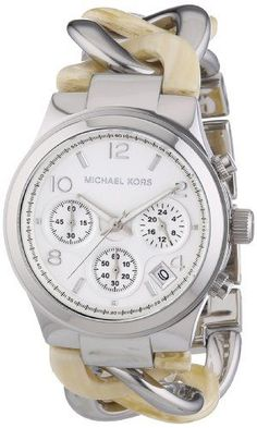 b8f41c133c43 Michael Kors Watches   Michael Kors Watches Runway Watch Silver and Horn    Check out the image by visit. - Watches Topia - Watches  Best Lists
