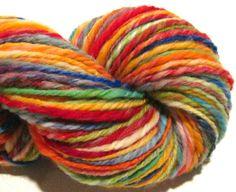 Handspun yarn Oak Bluffs B 144 yards 3 ply by SpinningWheelStudio, $24.00