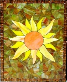 <3 mosaic sunflower, for Carrie <3