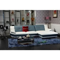 Icy - Modern Leather Sectional Sofa - SALE