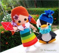 rainbow felt doll